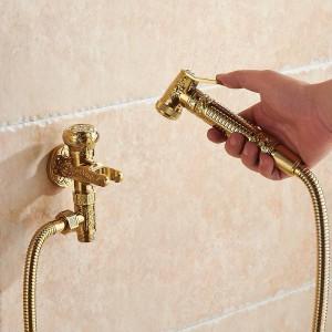 Bidet-Hähne einzelner kalter Messingwand-hygienischer Duschsprühkopf für Wäsche-Badezimmer-Toiletten-Auto-Spülungs-Haustier-Spritzpistole 8891K