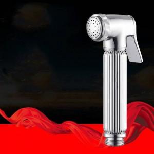 Bidets Wasserhahn Sprayer Massivem Messing Chrom Silber Handheld Toilette Bad Bidet Garten Wasserhahn Bidet Kopf Haustier Dusche Spray 0223