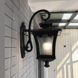 Schwarz wasserdichte Außenwandleuchte rustikale Wandleuchte Wandleuchten Innenhof Lampe Balkon Korridor Außenleuchte