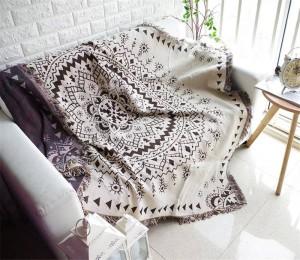 Bohemia Style Geometry Decke Sofa Dekorative Schonbezug Cobertor auf Sofa / Betten / Flugzeug Reisen Rutschfeste Nähte Decken