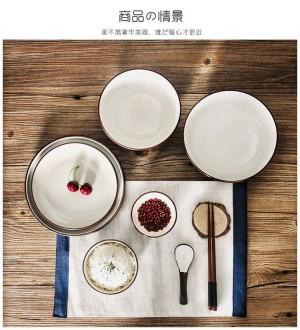 Geschirr-Reisgerichte der Schüsselhaushaltsschüssel stellten keramische Platte der japanischen Art ein