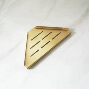 Messing gebürstet Badezimmer Regale Single Dual Triple Tier Triangle Eckregal Shampoo Shelf Küchenregal