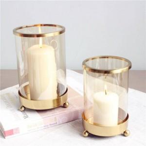 Kurze Kerzenhalter Metallüberzug Candle Base Aromatherapie Nachtlicht Candlelight Dinner Weihnachtsdekoration Handwerk Schmuck