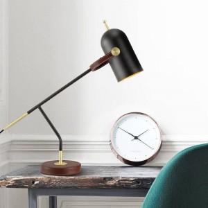 Kurze moderne Dekoration Tischlampe Schreibtisch Licht schwarz nordischen E27 LED Lampe Schlafzimmer Beleuchtung einfache Zuhause Kunst dekorativ
