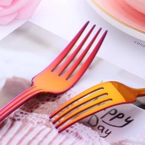 40-tlg. Geschirrset Edelstahl 304 Besteck Messer Gabel Set Geschirr Gold Silber Western Food Set Service für 8 Personen