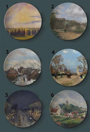 Camille Pissarro Gemälde Dekorative Teller Frankreich Home Artistic Dish Hotel Wohnzimmer Hintergrundbild Ölgemälde Teller