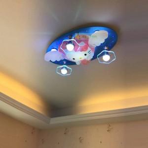 Cartoon Decke Energiesparlampe Led Kinderzimmer Schlafzimmer Jungen Und Mädchen Kitty Hallo Kitty Bluetooth Fernbedienung 220 V