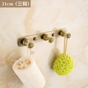 Geschnitzte Blume Antik Messing gebürstet Kleiderhaken Badezimmer Hardware Kleiderhaken Badezimmer Fixture Haken 2312A