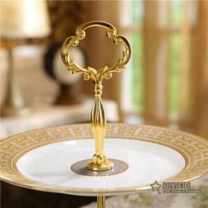 """Keramik Knochen """"H"""" -Markierung Mosaik-Design Obstschalen Keramik Tortenplatte Sets 2-Schicht-Gebäck Snack Schatz Scheibe Haushalt"""