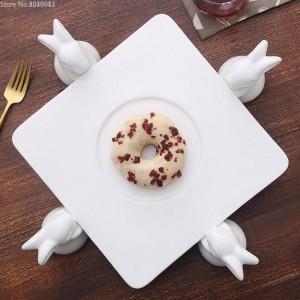 Keramik Kuchen Rahmen Kreative Europäischen Wohnzimmer Kaninchen Obstteller Gebäck Tablett Dessert Tisch Candy Stand Kuchen Dekorieren Tools