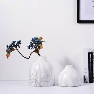 Keramikvase Desktop dekorative Töpfe Pflanzgefäße Marmor Textur Korn Akzent Dekor