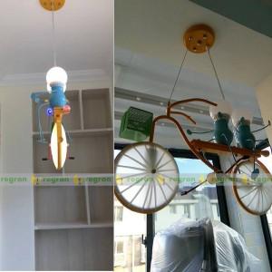 Kinder LED-Leuchten Persönlichkeit Fahrrad Kind Hängelampe Schlafzimmer Junge Zimmer Lampe moderne Anhänger kreative Licht Baby Bestes Geschenk