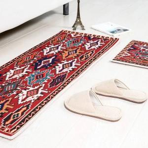 Stil Cottage Square Kissen Küche Tür Pad Bad Anti-Rutsch Staub entfernen Tür MATCoffee Tisch Teppich Bettwäsche Matten