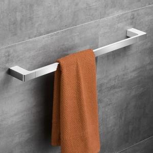 Chrom Farbe Zink Legierung Material 60 cm Mode Einzigen Handtuchhalter Quadratischen Stil Handtuchhalter Handtuchhalter Bad-accessoires 5724