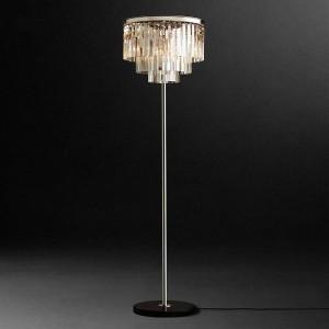 Chrom Silber LED Kristall Stehlampe Kristall Tisch Schreibtisch Licht Schlafzimmer Wohnzimmer Boden stehende Lampe E14 110-240V Led Vloerlamp