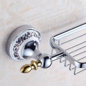 Seifenschale aus verchromtem Edelstahl Korbhalter Aufbewahrung Badzubehör WC-Waschtisch 7004CP