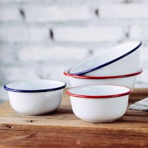 Klassische japanische Art-Hauptkinderschüsseln starkes Porzellan emaillierte Schüssel-Salat-Schüssel-Popcorn-Frucht-Imbiss-Suppenschüssel-Geschirr