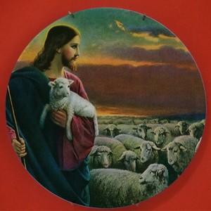 Klassische fromme Jesus Design Malerei Keramik Wandbehang Handwerk Platten Dish Kirche Christian Faith Gebet Dish Gläubiger Geschenk