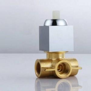 Unterputz Duscharmatur Mischbatterie Ventil In Wandmontage Quadrat Duschpaneel Chrom Messing Wasserhahn