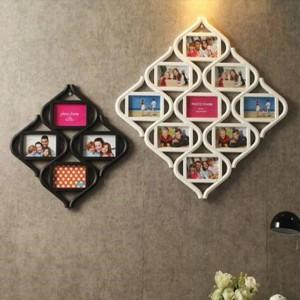Continental 12 Raster Kombination von 6-Zoll-Bilderrahmen hängen Fotowand Formstück weiß Home Decoration Hochzeitsdekoration