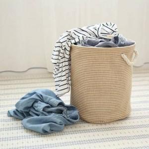 Baumwolle Leinen Kunst Aufbewahrungseimer Wäschekorb Wäschekorb Schmutz und schmutzigen Wäschekorb großen faltbaren Ablagekorb