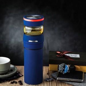 Kreative 304 Edelstahl Isolierflaschen Büro Master Tee Wasser Separate Gerade Tasse Männer Business Thermoskannen Geburtstagsgeschenke
