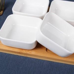 Kreative Keramik quadratisch Snack Kimchi Gericht Trockenobst Salatschüssel Soßengericht Zucker & Sahne Töpfe Geschirr Gewürzglas