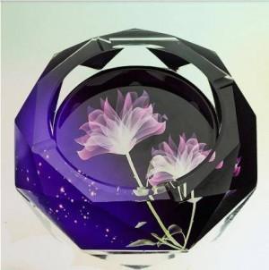 Kreative Kristallaschenbecher, Haushaltswaren und Bürobedarf, Durchmesser 12 cm