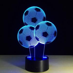 Kreative fußball nachtlichter 7 farben ändern ballon form 3d led illusion lampe 3d visuelles licht für fußballfans geschenk