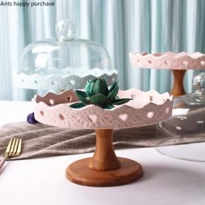 Kreative Obstschale Keramik Hohe Obstschale Desserttisch Tablett Ausstellungsstand Kuchentablett Kuchenregal Weihnachtsdekoration Cupcake