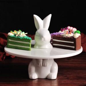 Kreative schöne Kaninchen Kuchen Tablett Obsttablett Tortenständer dekorative Platte Hochzeit Thanksgiving Weihnachtsdekoration