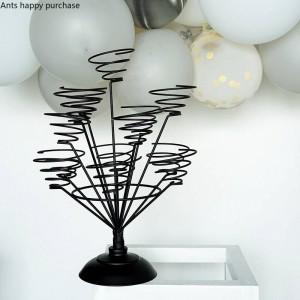 Kreative Macaron Ausstellungsstand Hauptdekorationen Hochzeitsfest arrangieren Cup Kuchen Rack Wire Frame Cristmas Dekoration