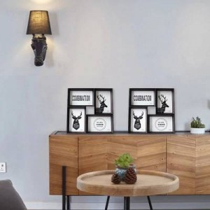 Kreative Fotorahmen 4 6-Zoll-Set Tisch Wand Double Use Kombination Fotorahmen, um Stück Fotowand im amerikanischen Stil zu verbinden