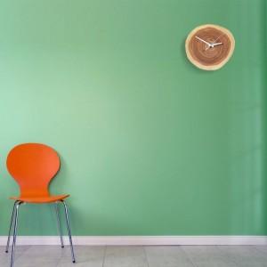 Kreative Massivholz Jahresring Uhr stumm einfache Wanduhren Naturholz Wanduhr modernes Design
