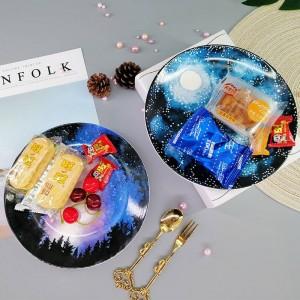 Kreative Stern Platte Keramik Schmuck Aufbewahrungstablett Kuchen Dessert Gericht Hause Veranstalter Dekoration Obstteller