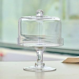 Kreatives transparentes Glas mit Deckelnachtischtabellen-Kuchen-Gestell-Staubfrucht-Abdeckungssnackbehälter-Geschirrdekoration