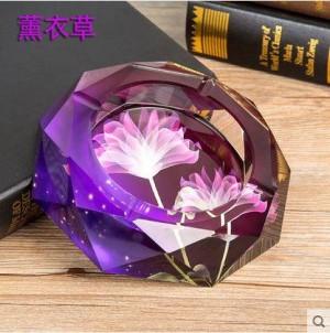 Crystal Aschenbecher, Kristall Handwerk, Bürobedarf, Heimtextilien, Werbegeschenke, Durchmesser von 0,15 Metern