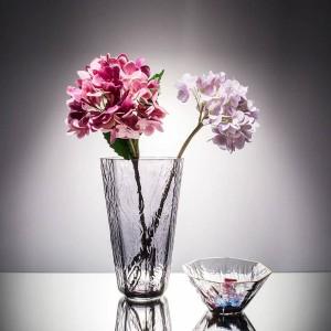 Kristallglasschale Blumenvasen Gold Edge
