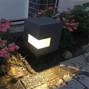 Würfelart Aluminium führte Rasen-Lampe Hof-Beleuchtung im Freien Garten-Landhaus-Landschaftslicht Rasenlichter wasserdichte Straßenlaternen