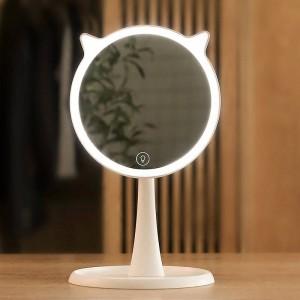 Niedlichen LED-Licht Kosmetikspiegel Haushalt Touchscreen Kosmetikspiegel professionelle Eitelkeit mit LED-Leuchten Spiegel Dekor mx12281800