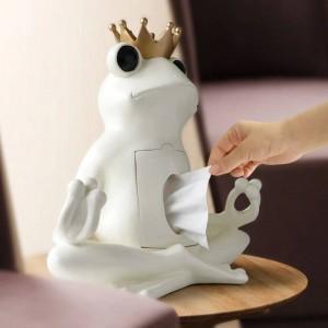 Dekorative Tissue Box Halter Home Decor Organizer Harz Aufbewahrungsbox Auf Tischplatte Frosch Statue Ornament Handwerk Skulptur geschenk