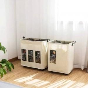 Faltbare Riemenscheibe des Schmutzwäschespeicherkorbs schmutzige Wäschebadezimmer großer Wäschekorbgewebekorbspielzeug-Speichereimer