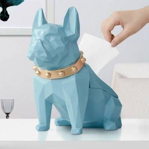 Hund Figur Harz schwarz Hund Tissue Halter Handwerk für Küche Zimmer Tisch Home Decor moderne kreative geometrische Hund Tissue Box