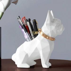 Hund Harz Figur Stifthalter Schreibtisch Veranstalter Büro Zubehör Lagerung Schreibtisch Bleistift Topflappen für Schreibtisch Stift Handwerk Geschenk