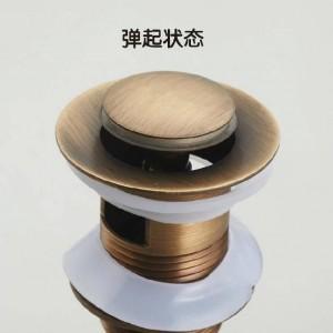 Abflüsse Antique Brass Pop Up Sink Ablaufstopfen Ohne Überlauf Bad Toilette Wasserhahn Pop-up Drain Mit Überlauf ZLY-6910