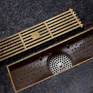 Abflüsse Euro Stil Antik Messing Badezimmer Lineare Dusche 8 * 20 8 * 30 cm Bodenablauf Sieb Kunst Geschnitzte Abdeckung Ablauf B8029
