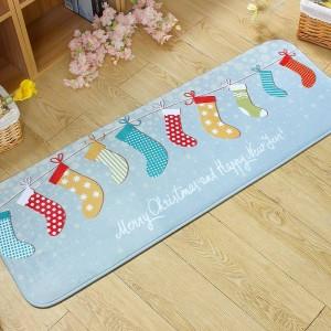Eingang fußmatten cartoon flanell tür matte nette schneemänner gedruckt carpet wohnzimmer schlafzimmer fußmatten küche weihnachten teppiche