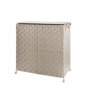 Umweltfreundlicher handgewebter Schmutzwäsche-Ablagekorb-Behälter-Haushalt mit zusammenklappbarer Korb-Wäscherei des Deckels