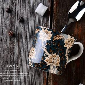 Europa Klassischer Knochenbecher Englischer Hofwindbecher Kaffeetasse Milchbecher Teetasse Reisebecher Henkel Wasserbecher 300ml Trinkgeschirr
