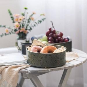 Europa Stil Metall Ablagekorb Vintage Handgemachte Kreative Obst / Brot Platten Eisenblech Tisch Veranstalter Ablage